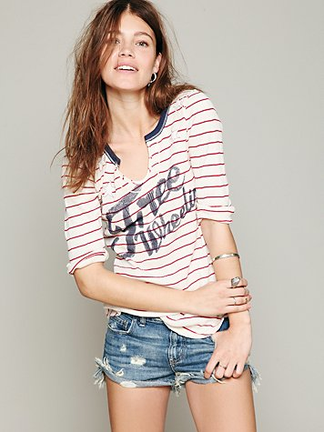 We The Free Stripe Star Graphic Tee