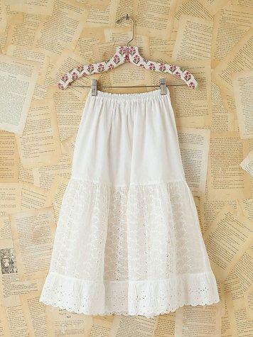 Vintage Gauzy Eyelet Skirt