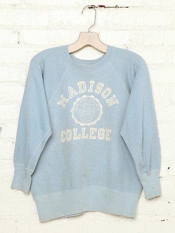 Vintage Madison College Sweatshirt