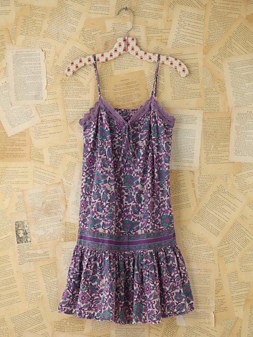 Vintage Floral Print Tank Dress