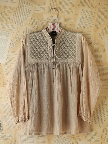 Vintage Quilted Tunic Top