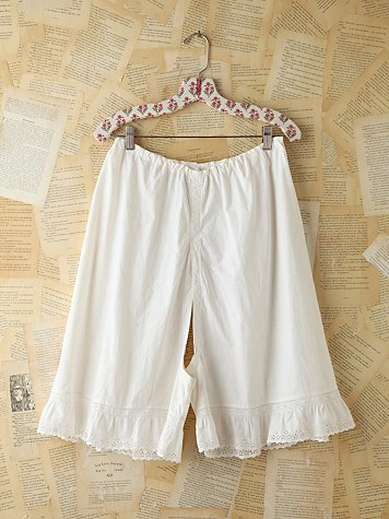 Vintage Cotton Breeches With Lace