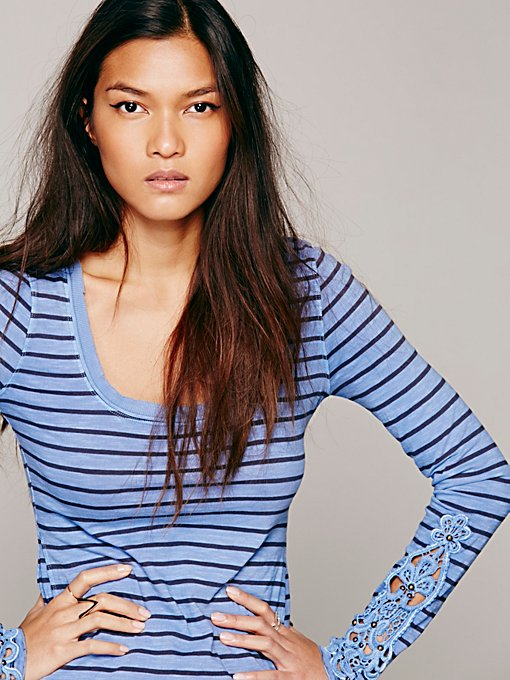 Hard Candy Stripe Cuff Top