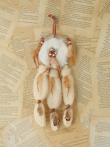 Vintage Small Furry Dreamcatcher