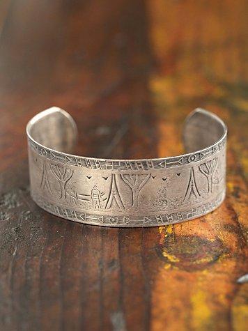 Vintage Textured Silver Cuff