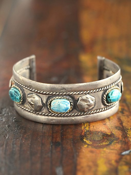 Vintage Turquoise Stone Cuff