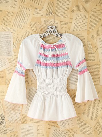 Vintage Crochet Peasant Top