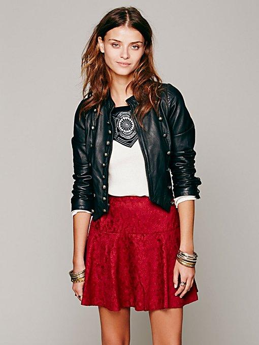 Chenille Cheetah Skirt