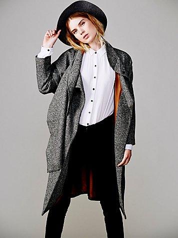 Tweed Long Coat