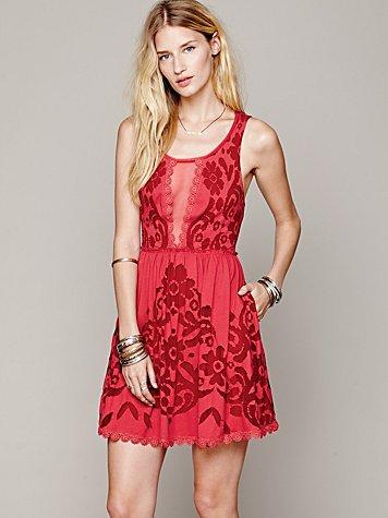 Love Letters Burnout Dress