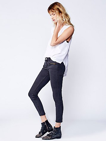Either Direction Zip Ankle Skinny