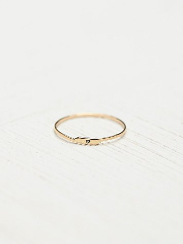 Etched Letter Ring