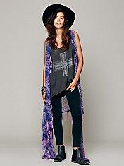 Paisley Sheer Kimono