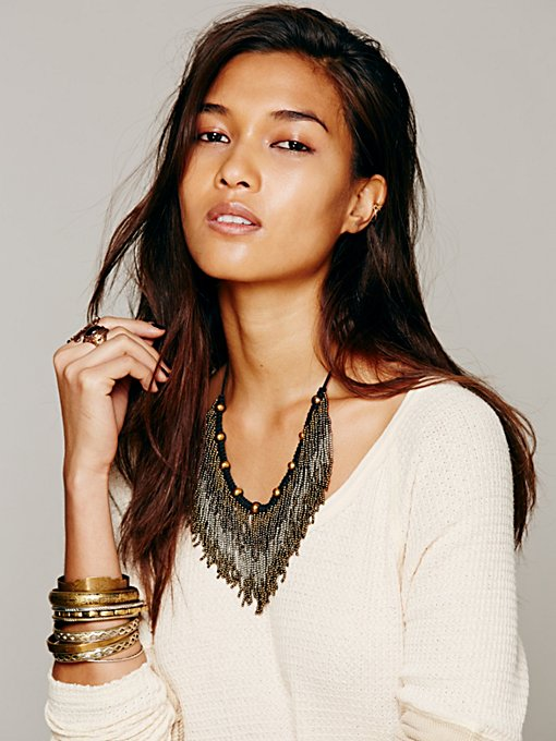 Metal Ombre Bead Collar