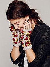 Flower Crochet Armwarmer
