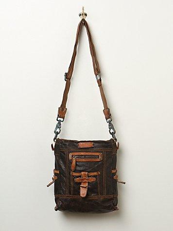 Cityscape Leather Satchel