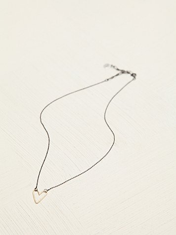 Heart Contrast Necklace