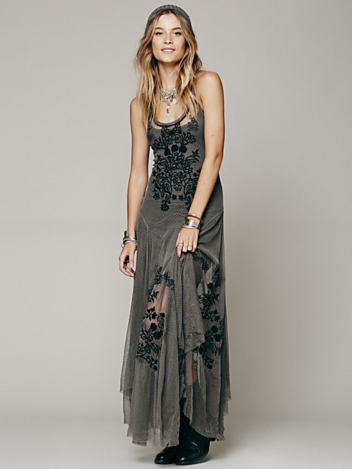 Darya Mesh Embroidered Maxi
