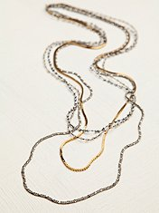 Bead and Chain Layer Necklace