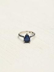 Tear Drop Stone Ring