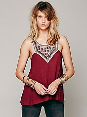 Embellished Mirror Tank