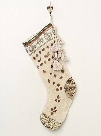 Large Embroidered Booti Stocking