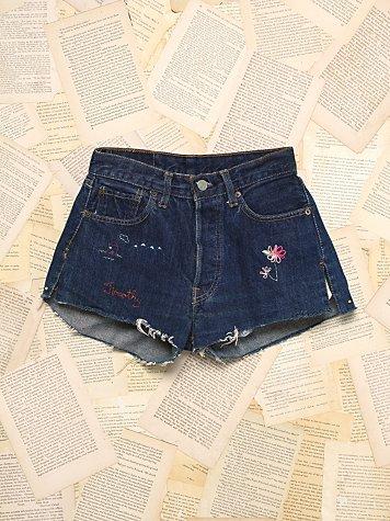 Vintage Big E Denim Shorts