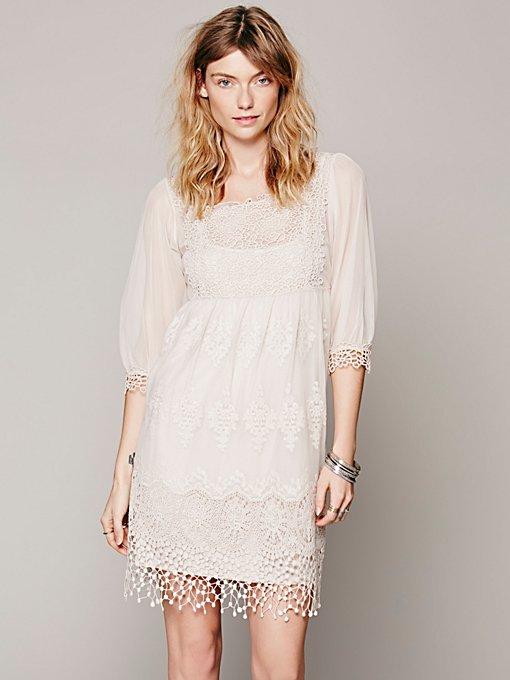 Empire Mesh Lace Dress