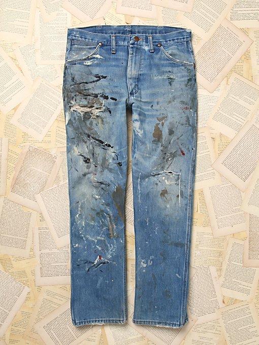 Vintage Wrangler Paint Splatter Jeans