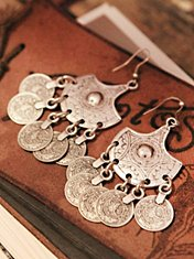 Coin Drop Statement Earring