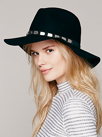 Embellished Band Brimmed Hat