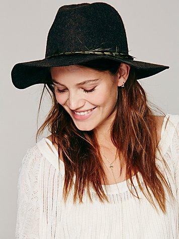 Embellished Band Brimmed Hat
