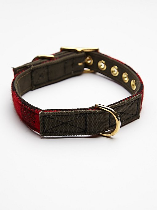 Buffalo Plaid Canvas Collar