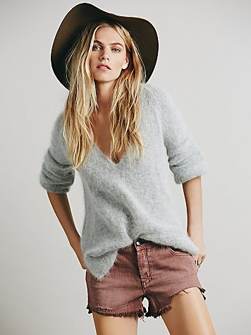 Raw Hem Denim Cutoff