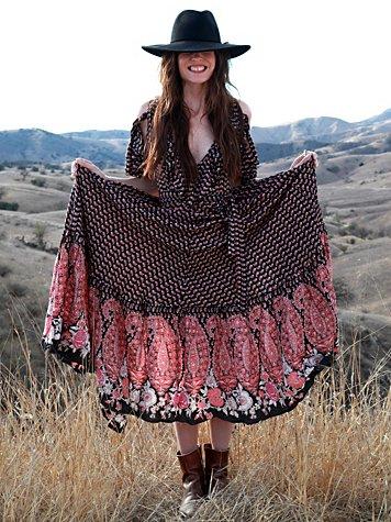 Wrapped Paisley Dress
