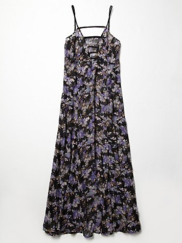 Printed Strappy Front Maxi