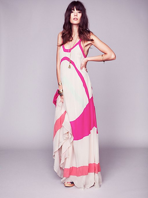 Axel Colorblock Maxi Gown