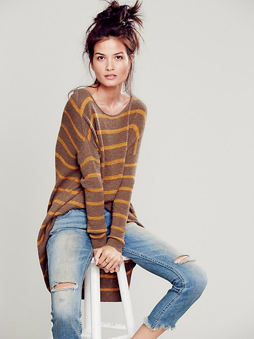 Slouchy Stripe Pullover