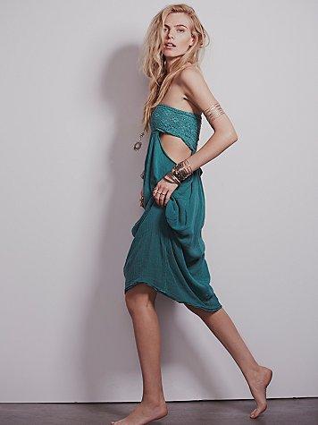 Smocked Drape Dress