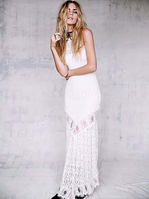 Florence Lace Halter Gown