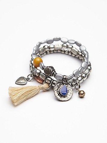 Metal Charm Bracelet Set