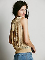 FP ONE Lace Open Back Tank