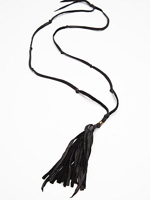 Leather Tassel Pendant