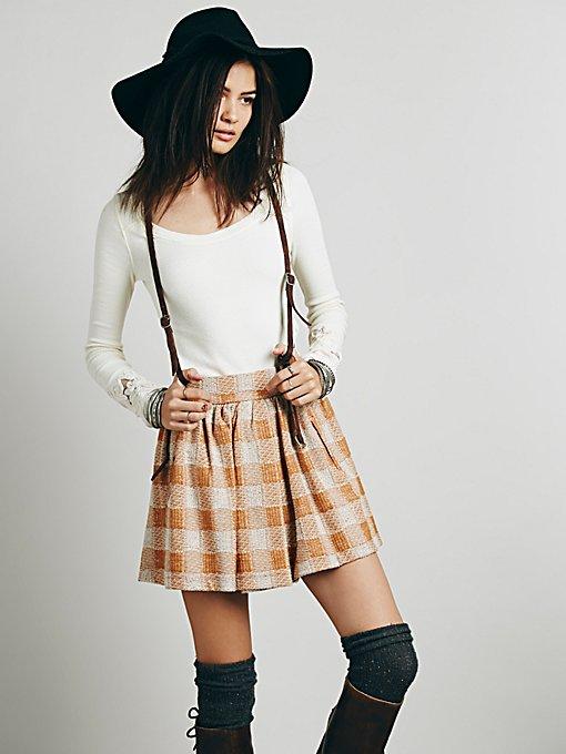 Holly Go Lightly Plaid Skirt