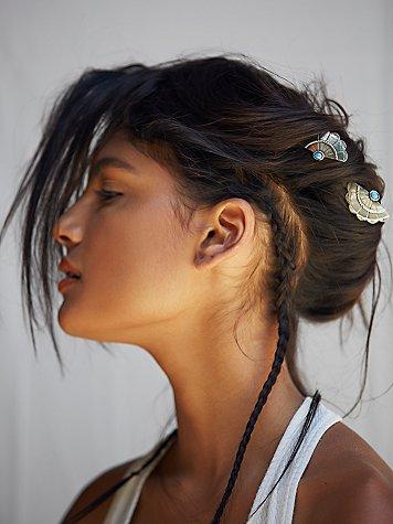 Concho Wing Hair Pins