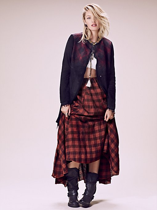 Sienna Plaid Maxi Skirt