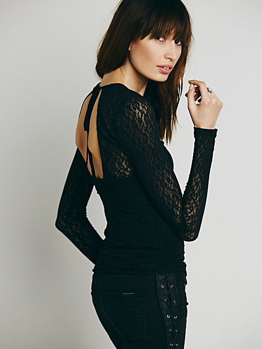 Open Back Lace Layering Top