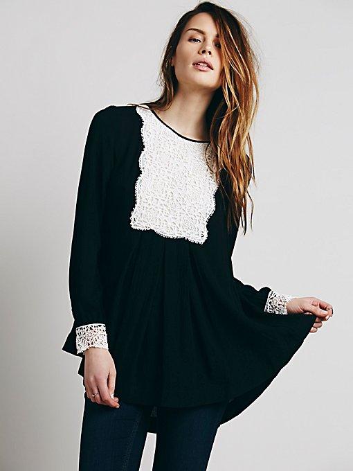 Lace Bib Pullover