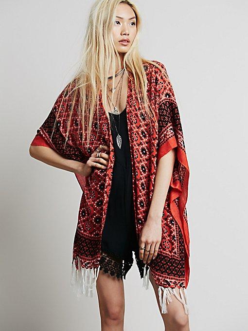 Ashlyn Fringe Kimono