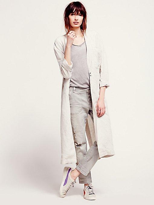 Linen Maxi Jacket